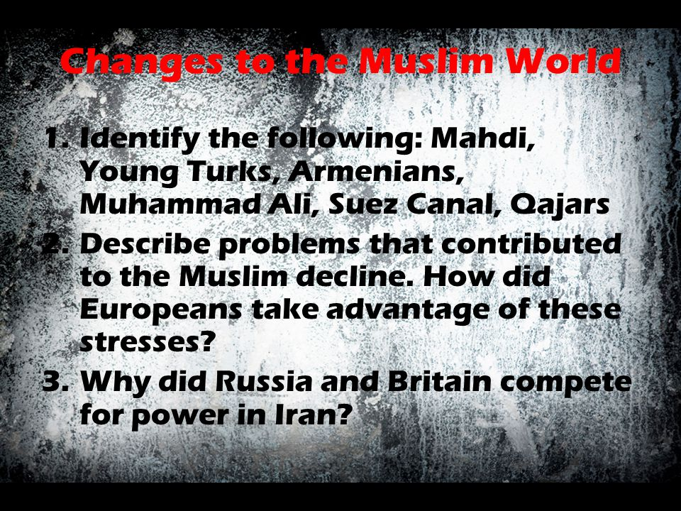 Changes to the Muslim World
