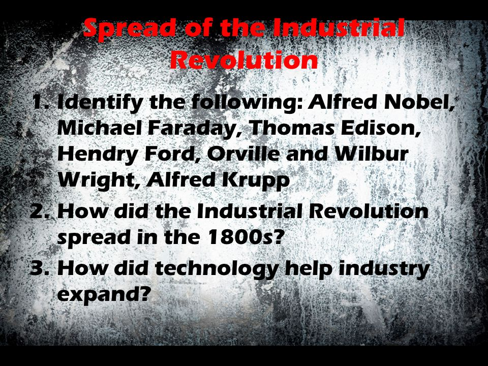 Spread of the Industrial Revolution