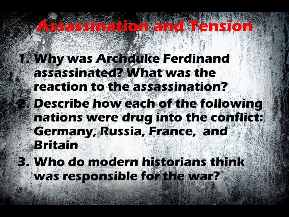 Assassination and Tension