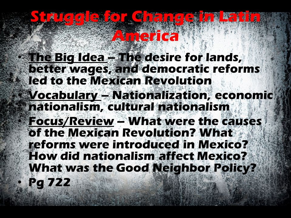 Struggle for Change in Latin America