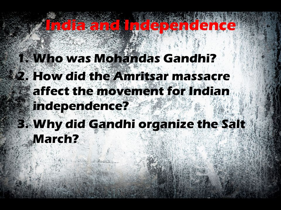 India and Independence