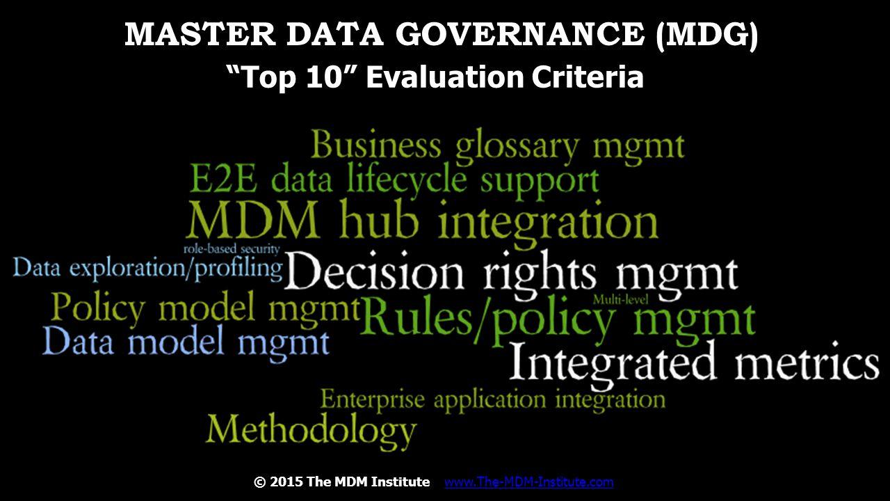 Master Data Governance (MDG)