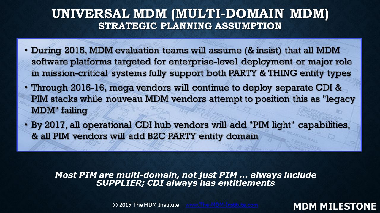 Universal MDM (Multi-Domain MDM) Strategic Planning Assumption