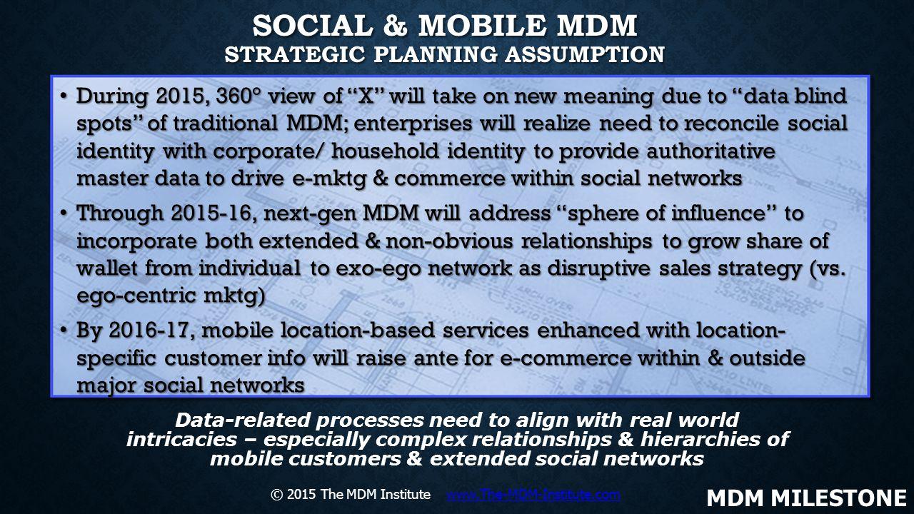 Social & Mobile MDM Strategic Planning Assumption