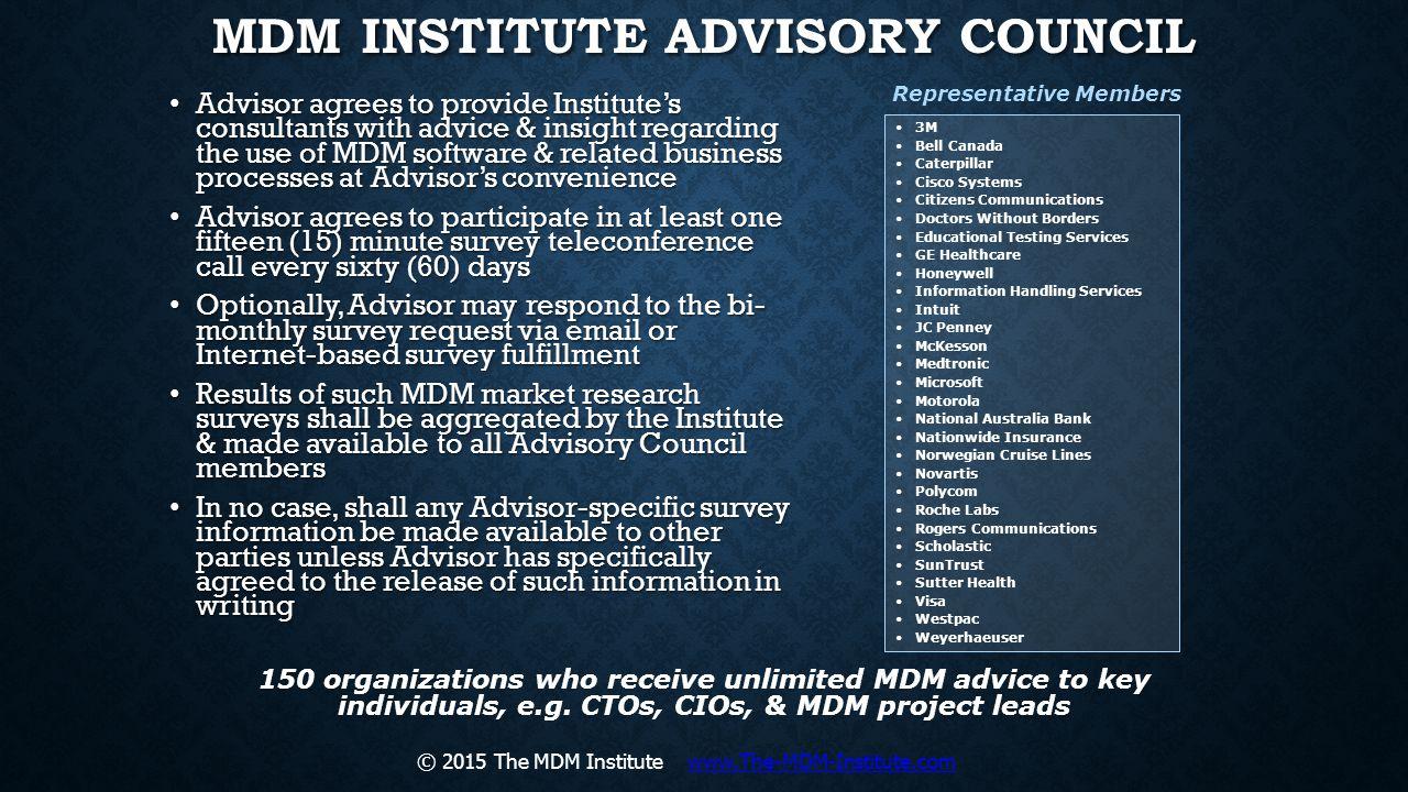 MDM Institute Advisory Council