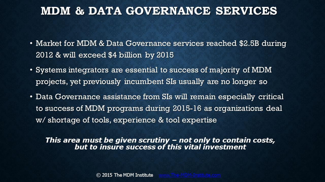 MDM & Data Governance Services