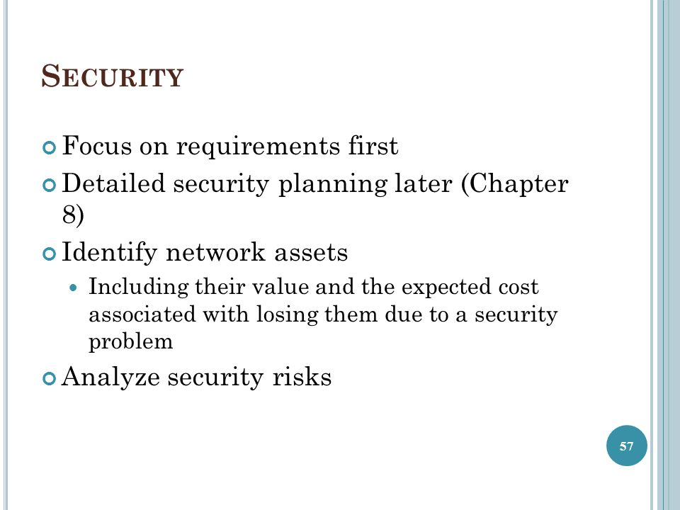 Security Focus on requirements first