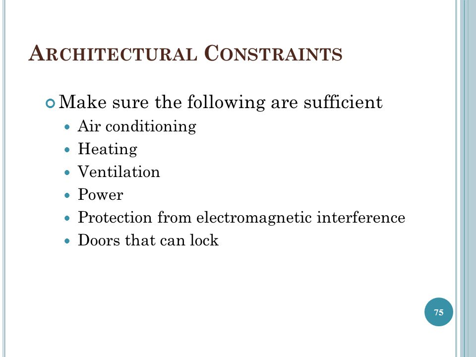 Architectural Constraints