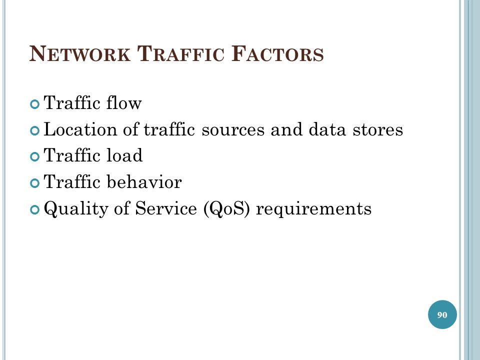 Network Traffic Factors