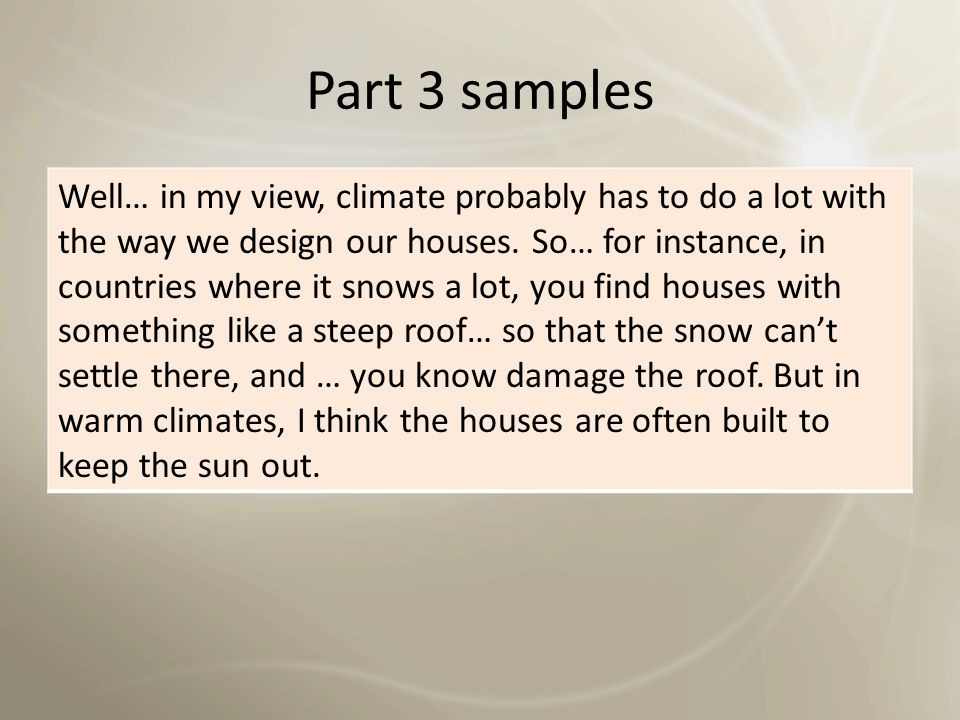 Part 3 samples