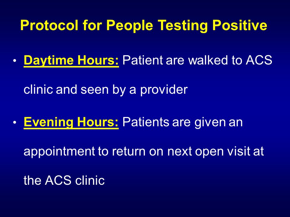 Protocol for People Testing Positive