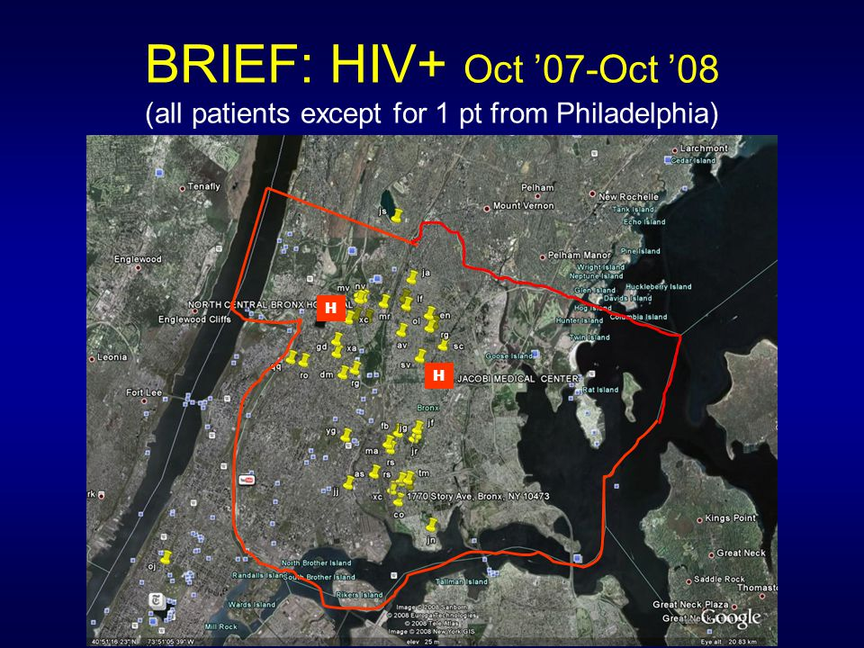BRIEF: HIV+ Oct '07-Oct '08 (all patients except for 1 pt from Philadelphia)