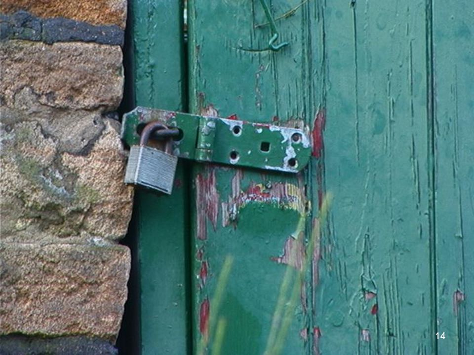 The hasp is not secured to the door. Entry to the shed is easily gained.