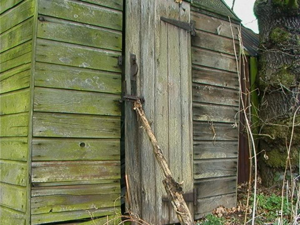 This shed is insecure, there is likely to be tools in it that may be used to break into the house.