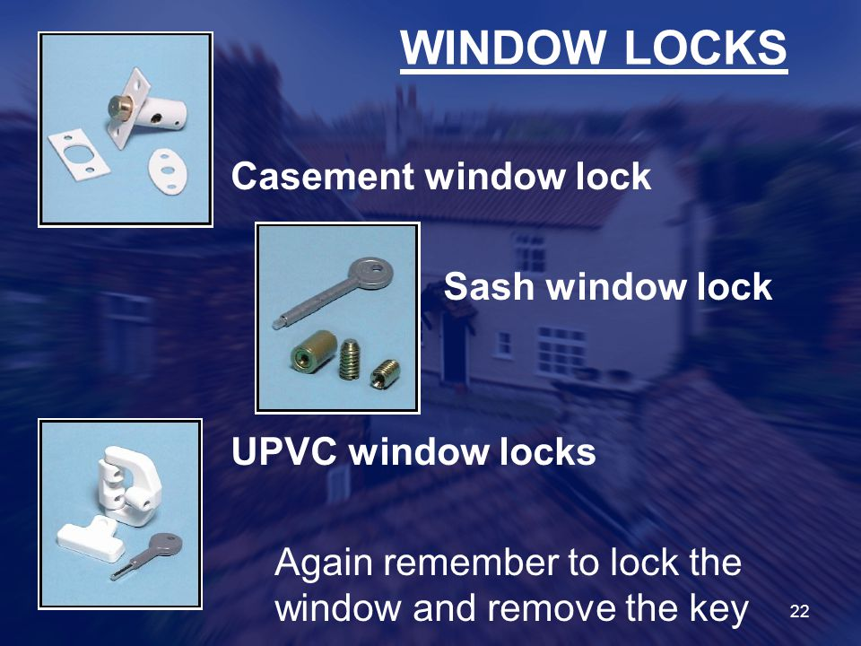 WINDOW LOCKS Casement window lock Sash window lock UPVC window locks