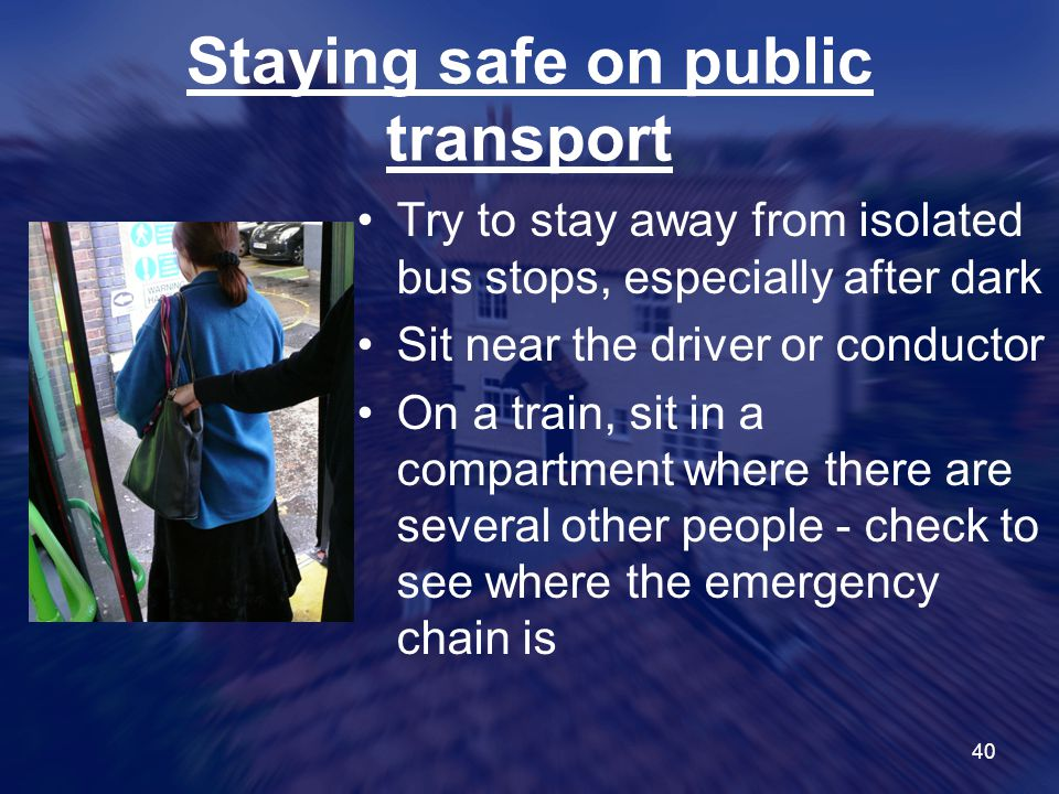 Staying safe on public transport