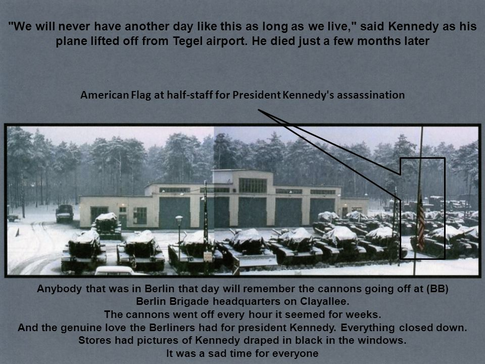 American Flag at half-staff for President Kennedy s assassination