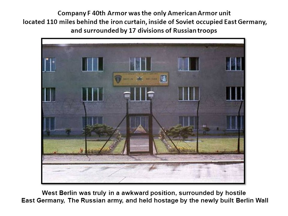 Company F 40th Armor was the only American Armor unit