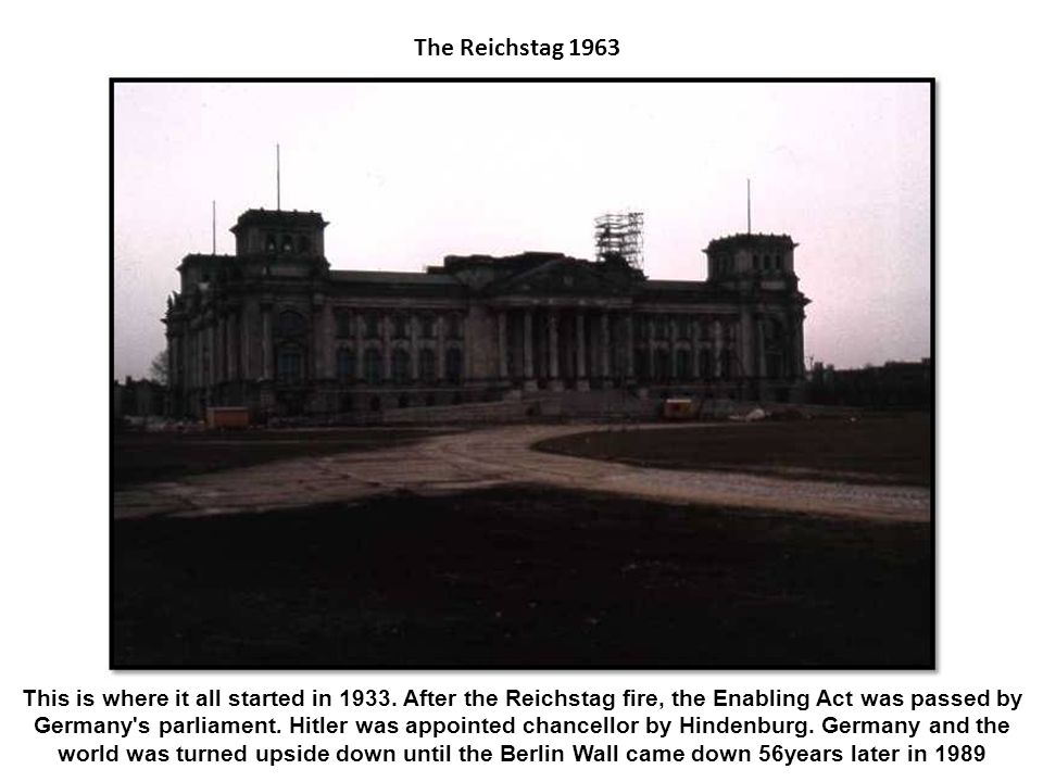 The Reichstag 1963