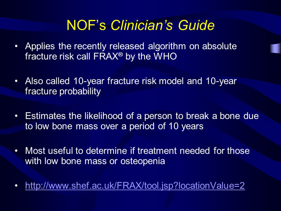NOF's Clinician's Guide