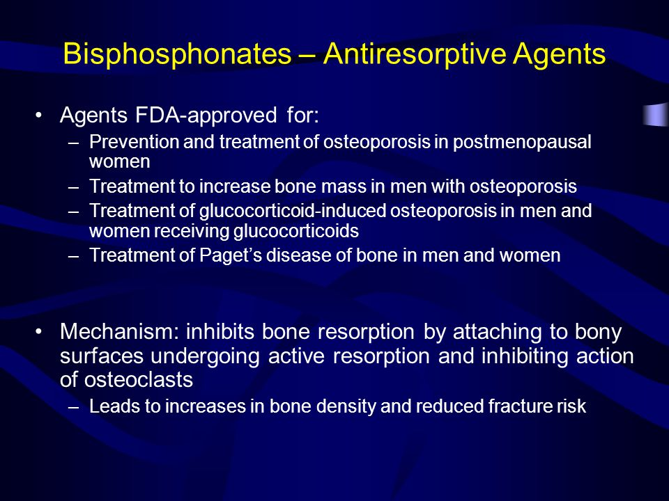 Bisphosphonates – Antiresorptive Agents
