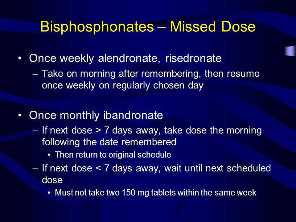 Bisphosphonates – Missed Dose