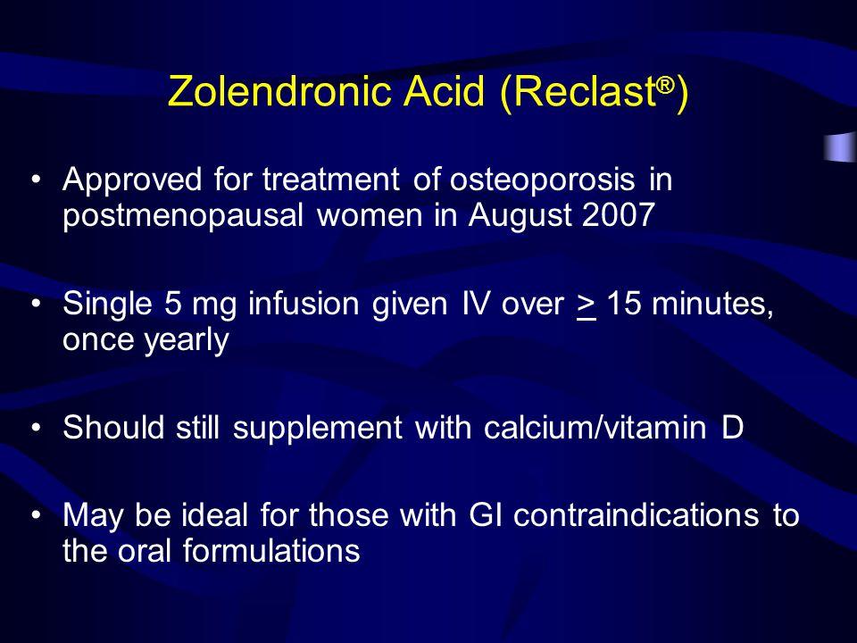 Zolendronic Acid (Reclast®)