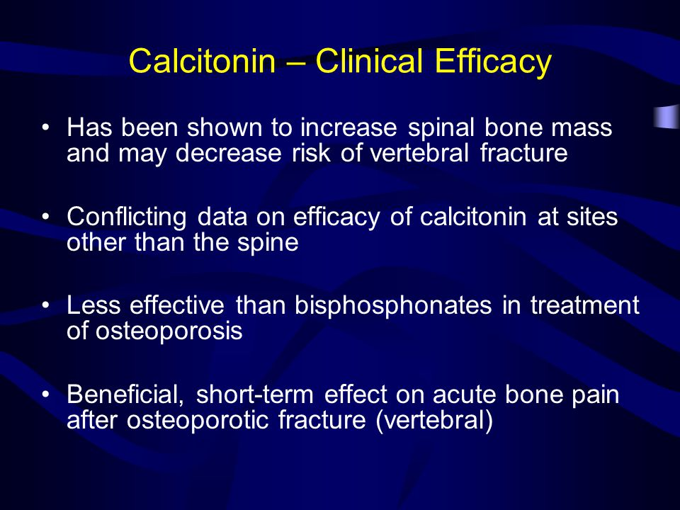 Calcitonin – Clinical Efficacy