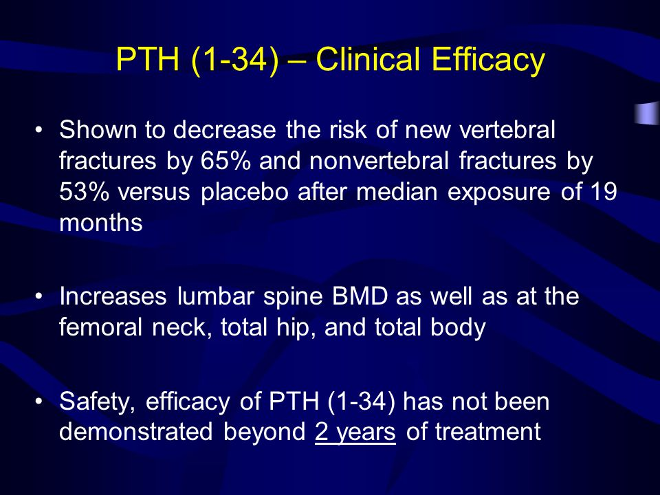 PTH (1-34) – Clinical Efficacy