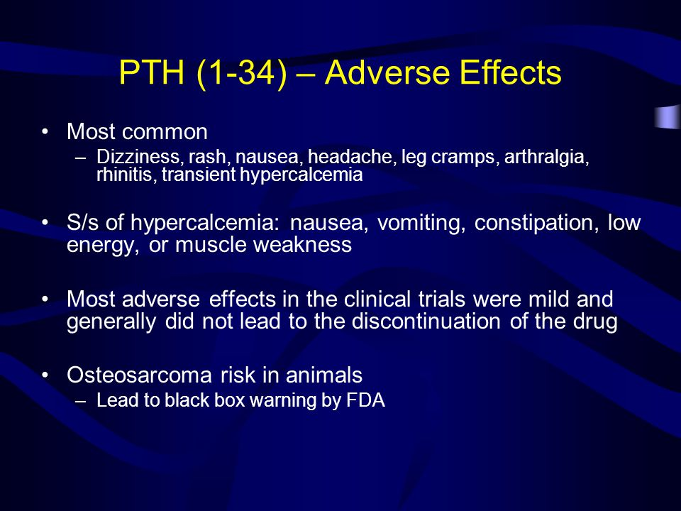 PTH (1-34) – Adverse Effects