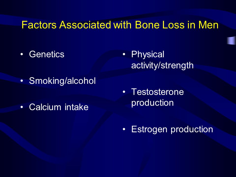 Factors Associated with Bone Loss in Men