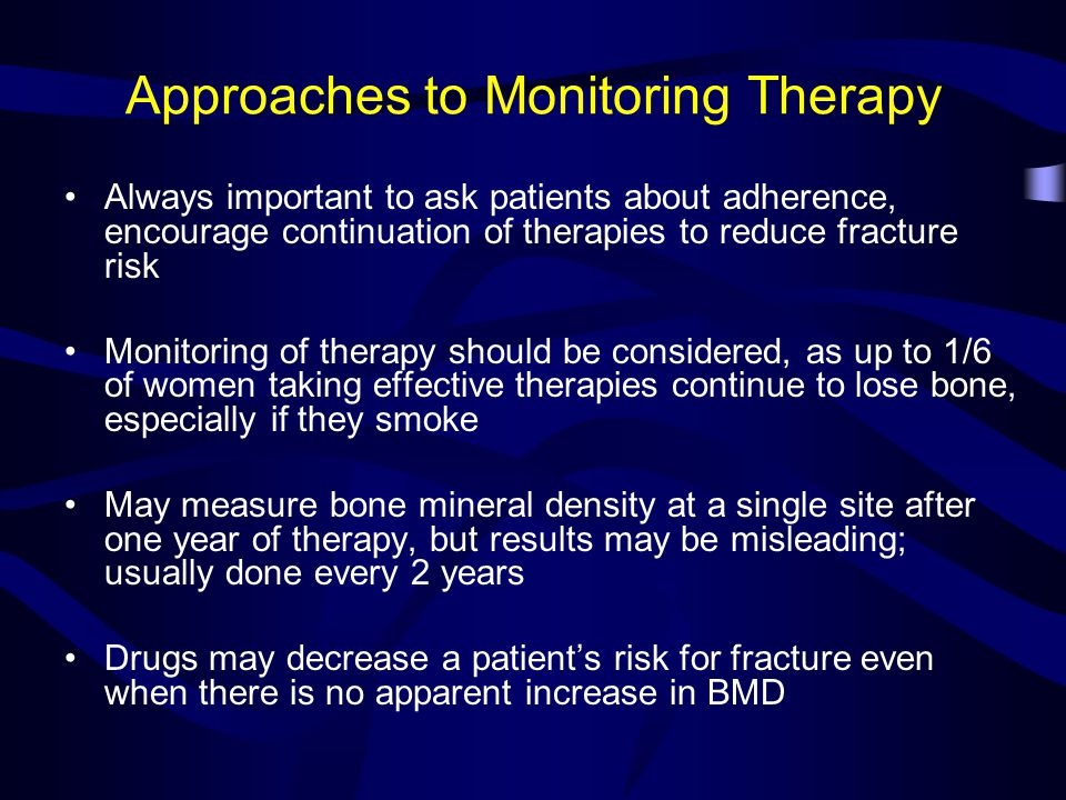 Approaches to Monitoring Therapy