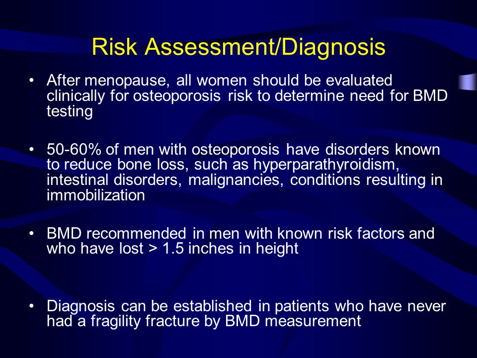Risk Assessment/Diagnosis