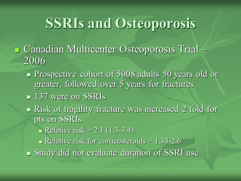 SSRIs and Osteoporosis