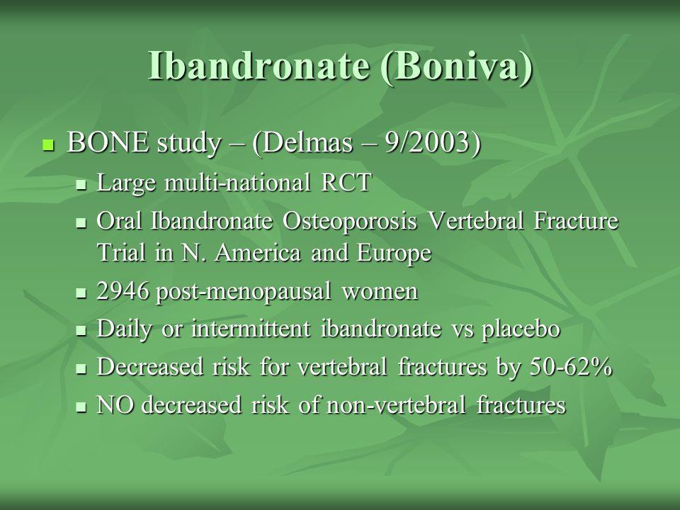 Ibandronate (Boniva) BONE study – (Delmas – 9/2003)
