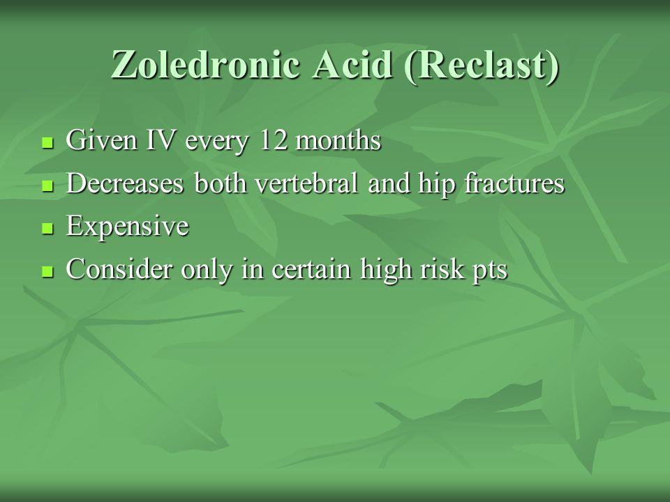 Zoledronic Acid (Reclast)
