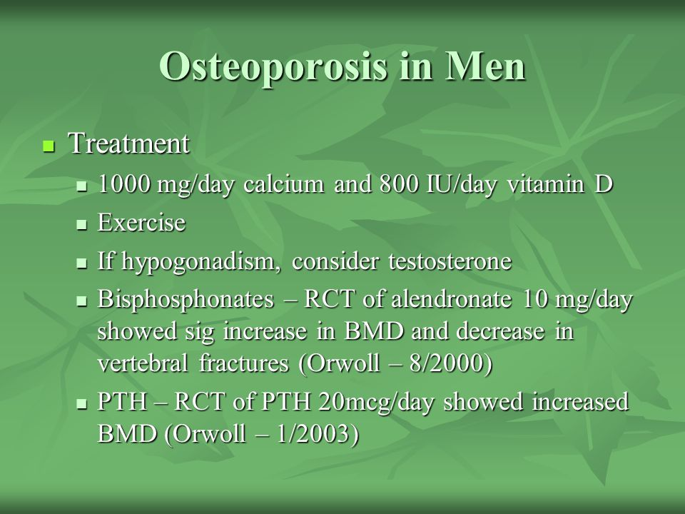 Osteoporosis in Men Treatment