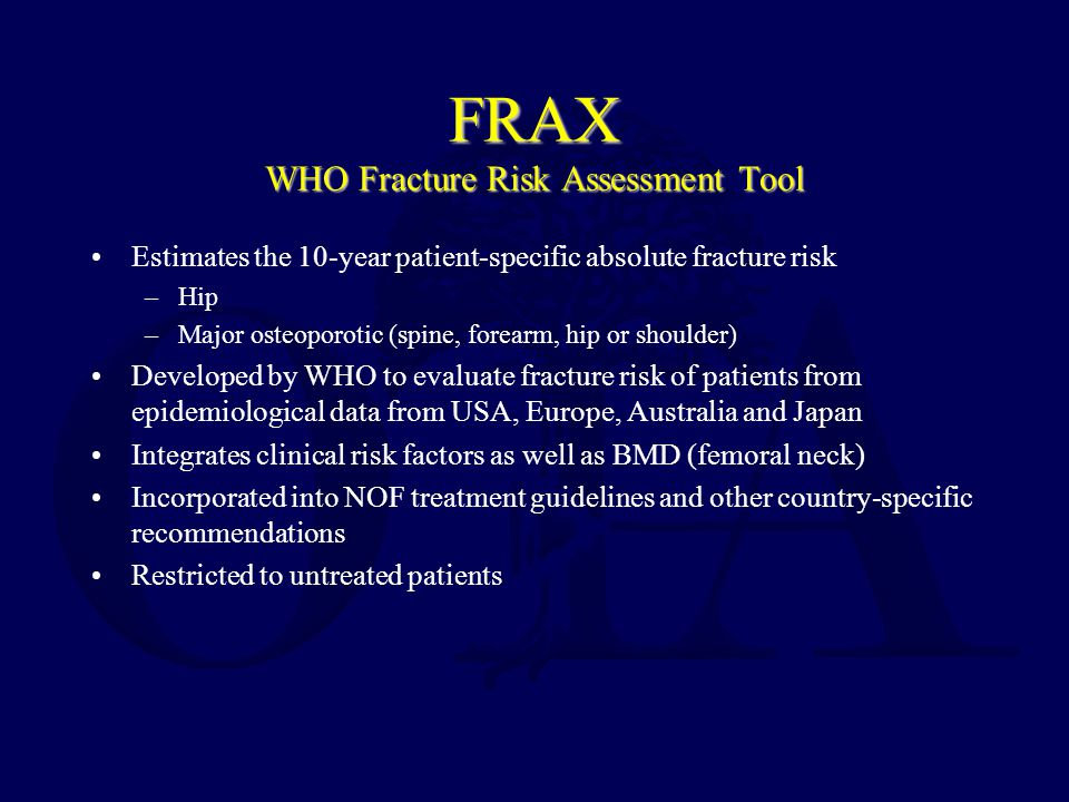 FRAX WHO Fracture Risk Assessment Tool