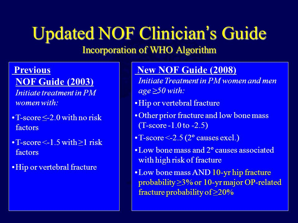 Updated NOF Clinician's Guide Incorporation of WHO Algorithm