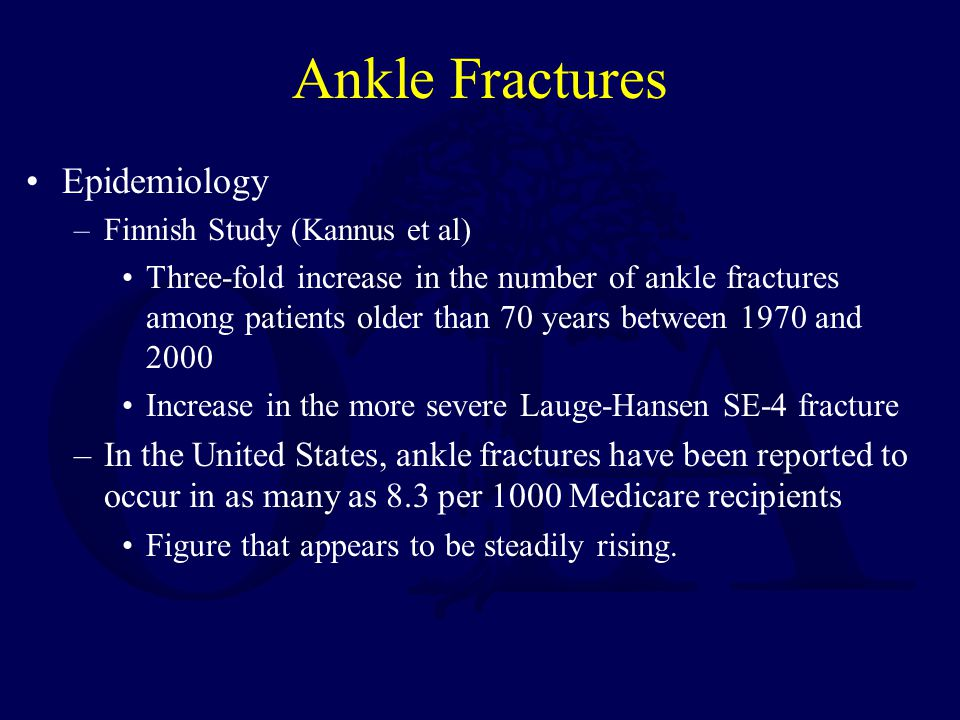 Ankle Fractures Epidemiology
