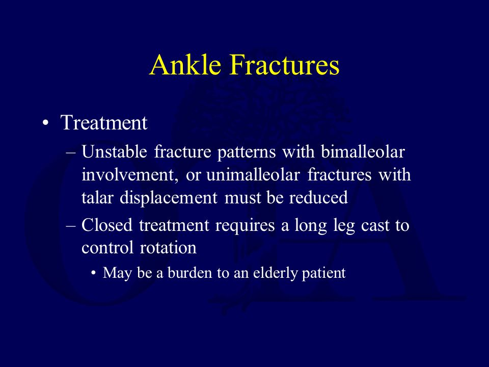 Ankle Fractures Treatment