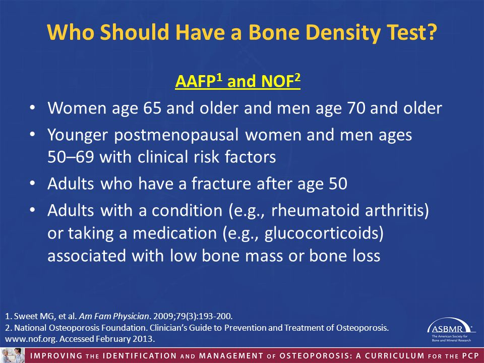 Who Should Have a Bone Density Test