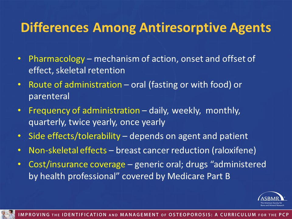 Differences Among Antiresorptive Agents