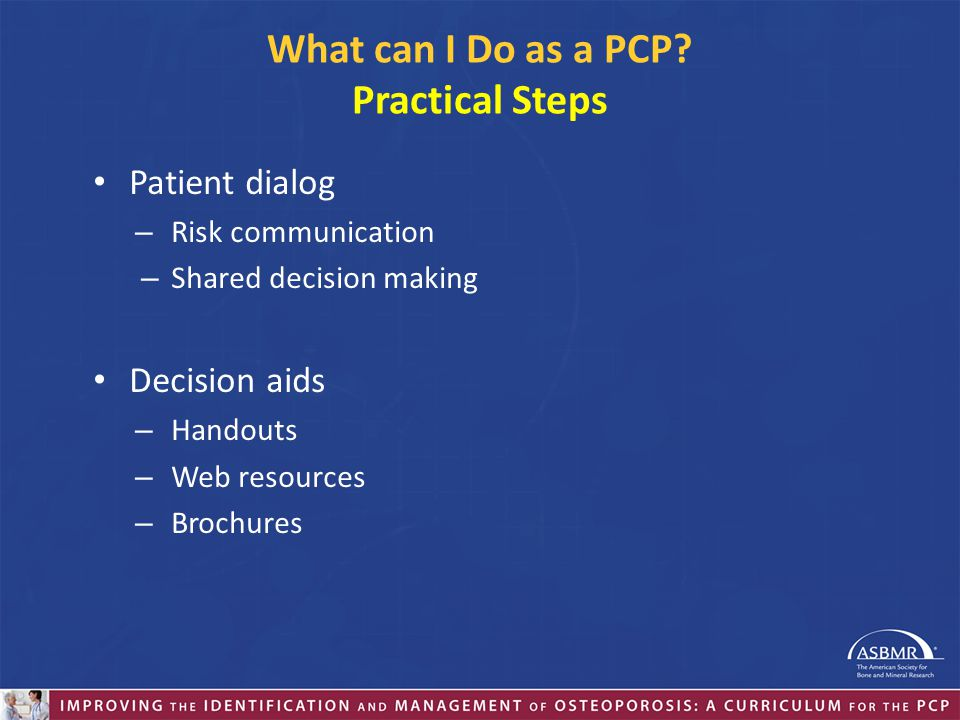 What can I Do as a PCP Practical Steps