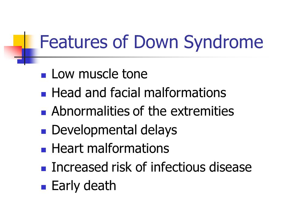 Features of Down Syndrome