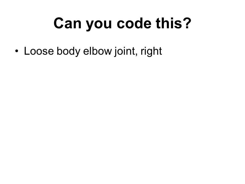 Can you code this Loose body elbow joint, right