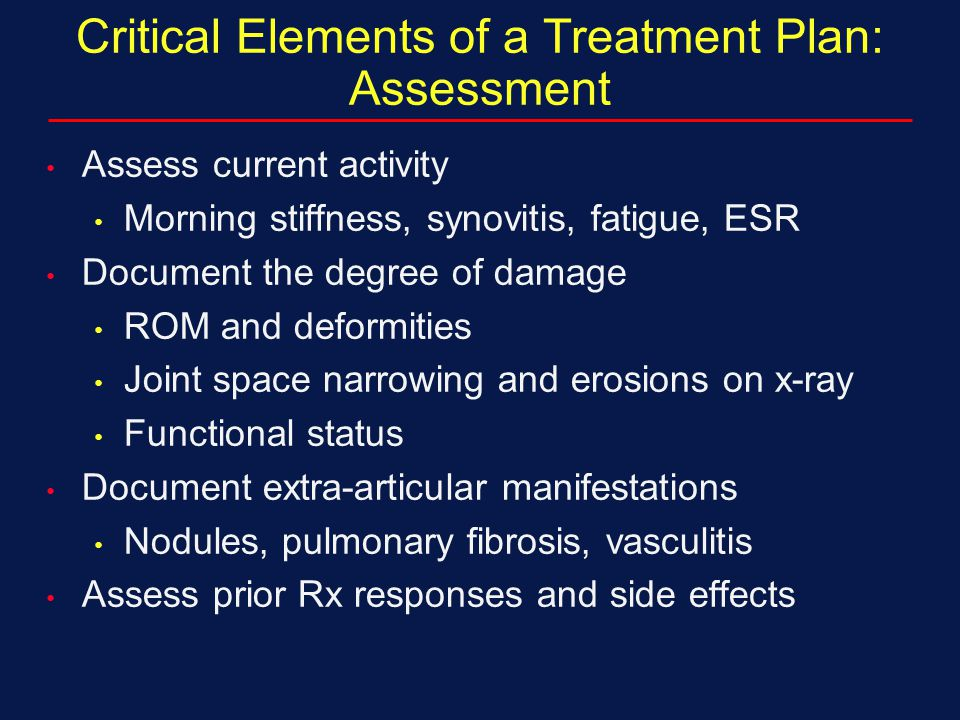 Critical Elements of a Treatment Plan: Assessment