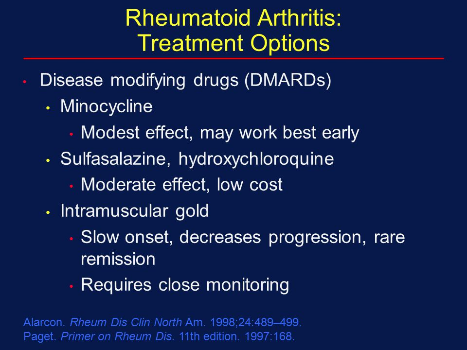 Rheumatoid Arthritis: Treatment Options