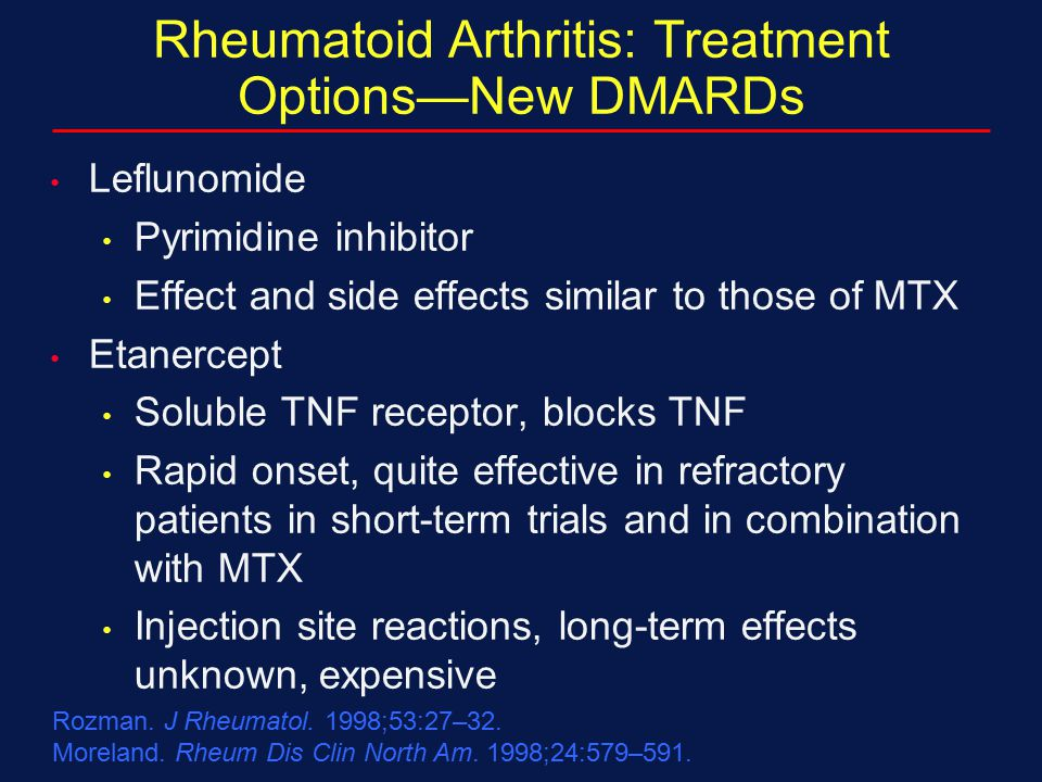 Rheumatoid Arthritis: Treatment Options—New DMARDs