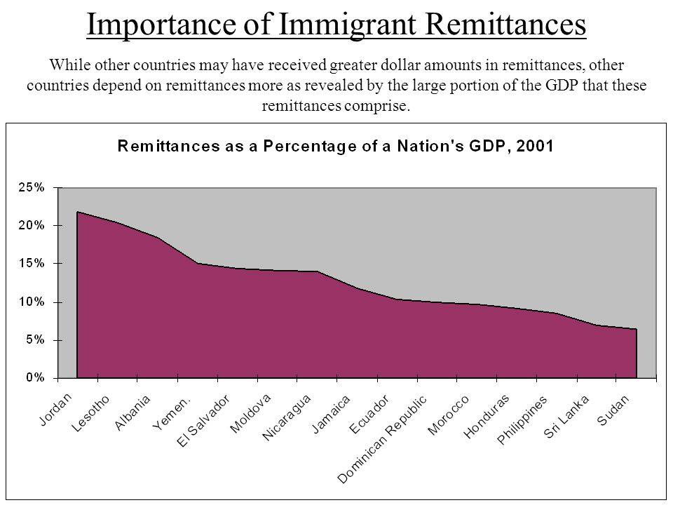 Importance of Immigrant Remittances